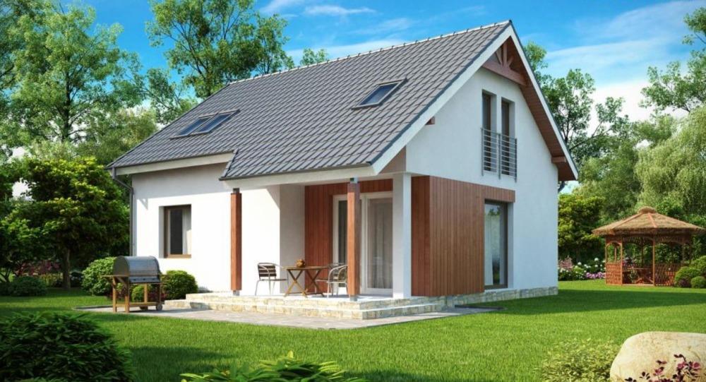 Простой дом построенный с древесины