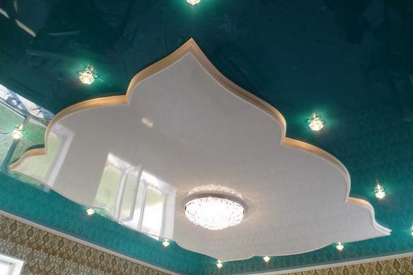 Простые фигурные потолки из гипсокартона