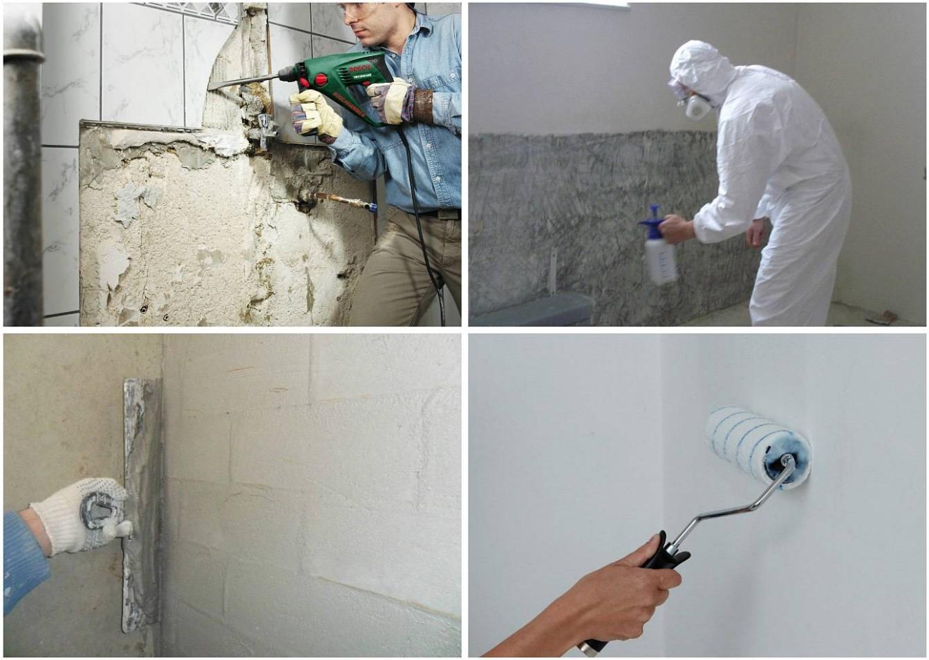 Подготовка основания стен для укладки плитки