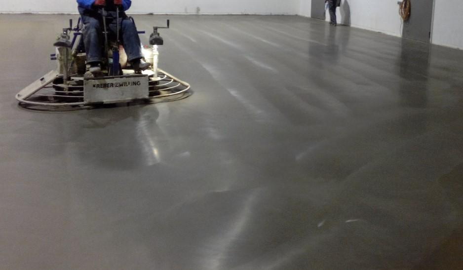 Прессовка залитого бетона